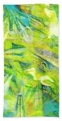 Beach Towel featuring the painting Angel Forest by Kym Nicolas