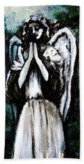 Angel In The Garden Beach Towel