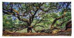 Angel Oak In Digital Oils Beach Towel