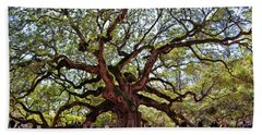 Angel Oak Tree 009 Beach Towel by George Bostian