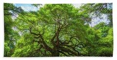 Angel Oak Tree In South Carolina  Beach Towel