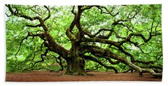 Angel Oak Tree Beach Sheet by Jean Haynes