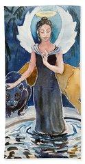 Angel Of Balance And Harmony Beach Towel