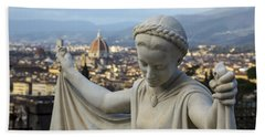 Beach Towel featuring the photograph Angel Of Firenze by Sonny Marcyan