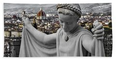 Beach Towel featuring the photograph Angel Of Florence by Sonny Marcyan