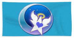 Angel Star Icon Beach Towel