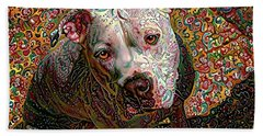 Angel The Pit Bull American Bulldog Beach Sheet