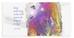 Beach Towel featuring the photograph Angel Vision by Marie Hicks