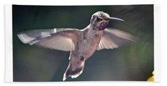 Angel Wings  Hummer In Flight Beach Towel by Jay Milo