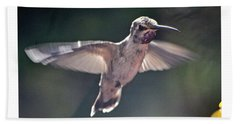 Angel Wings  Hummer In Flight Beach Sheet