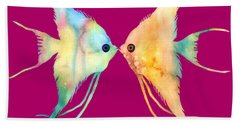Angelfish Kissing Beach Towel