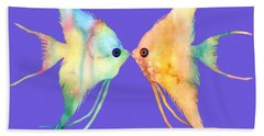 Angelfish Kissing Beach Towel