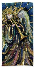 Angelic Song Beach Towel by Rae Chichilnitsky