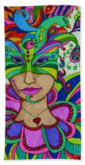 Angelique Beach Towel by Alison Caltrider