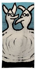 Angels And Devils - The Twins Beach Towel