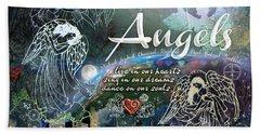 Beach Sheet featuring the digital art Angels by Evie Cook