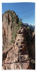 Angels Landing Chains  Beach Towel