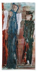 Angels Of The Night Beach Towel