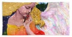 Angels Protect The Innocents Beach Towel