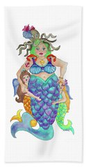Angels Swim Among Us Beach Towel by Rosemary Aubut