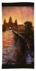 Angkor Wat Sunrise 2 Beach Sheet by Ryan Fox