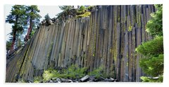 Angle View Desert Postpile Beach Towel