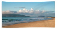Beach Towel featuring the photograph Angler Fishing At Dawn by Lana Enderle