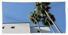 Angles And 3 Palm Tress Beach Sheet