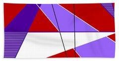 Angles And Triangles Beach Towel by Tara Hutton