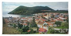 Beach Towel featuring the photograph Angra Do Heroismo And Monte Brasil, Terceira Island by Kelly Hazel