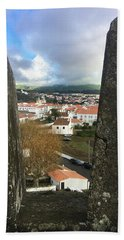 Beach Towel featuring the photograph Angra Do Heroismo From Forte De Monte Brasil by Kelly Hazel