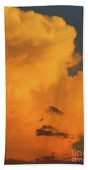 Angry Cloud Profile At Sunset Beach Towel