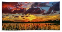 Angry Cloud Sunset Beach Towel by Tom Claud