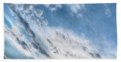 Angry Clouds Beach Towel by Susan Stone