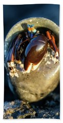Angry Hermit Crab Beach Towel