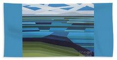 Angular Lake Beach Towel