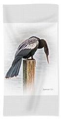 Anhinga Male Beach Towel