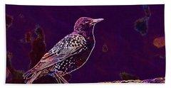 Beach Sheet featuring the digital art Animal Avian Bird Feathers Nature  by PixBreak Art