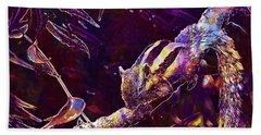 Beach Sheet featuring the digital art Animal Branches Leaves Mammal  by PixBreak Art