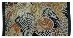 Animal Print Floor Cloth Beach Sheet by Judith Espinoza