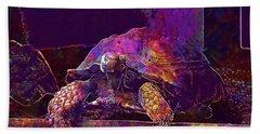 Beach Sheet featuring the digital art Animal Turtle Zoo  by PixBreak Art