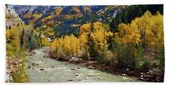 Beach Sheet featuring the photograph Animas River San Juan Mountains Colorado by Kurt Van Wagner