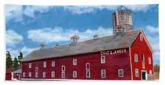 Beach Sheet featuring the painting Anken's Barn by Lynne Reichhart