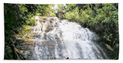 Beach Towel featuring the photograph Anna Ruby Falls by Jerry Battle