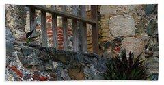 Annaberg Ruin Brickwork At U.s. Virgin Islands National Park Beach Sheet