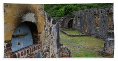 Annaberg Sugar Mill Ruins At U.s. Virgin Islands National Park Beach Towel