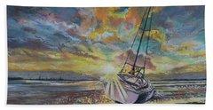 Annagassan Sunrise Beach Towel by Marty Garland