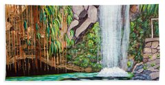 Annandale Waterfall Beach Towel