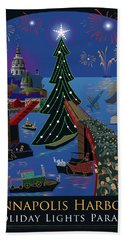 Annapolis Holiday Lights Parade Beach Towel