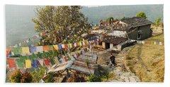 Annapurnas Route In Nepal Beach Towel